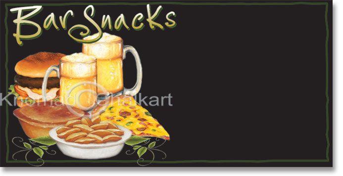 bar snacks menu board template menu board templates pinterest