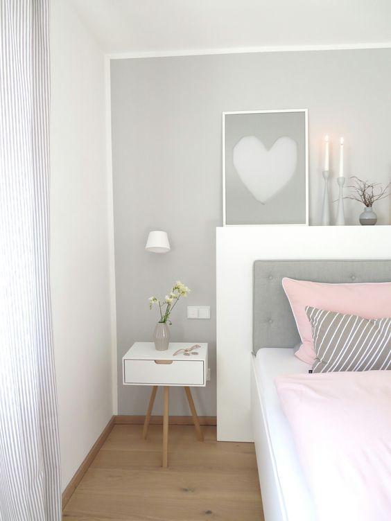 rosa wandfarbe schlafzimmergemtliches - Wandfarbe Im Schlafzimmer