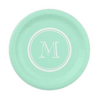 Light Mint Green High End Colored Matching 7 Inch Paper Plate  sc 1 st  Pinterest : high end paper plates - pezcame.com