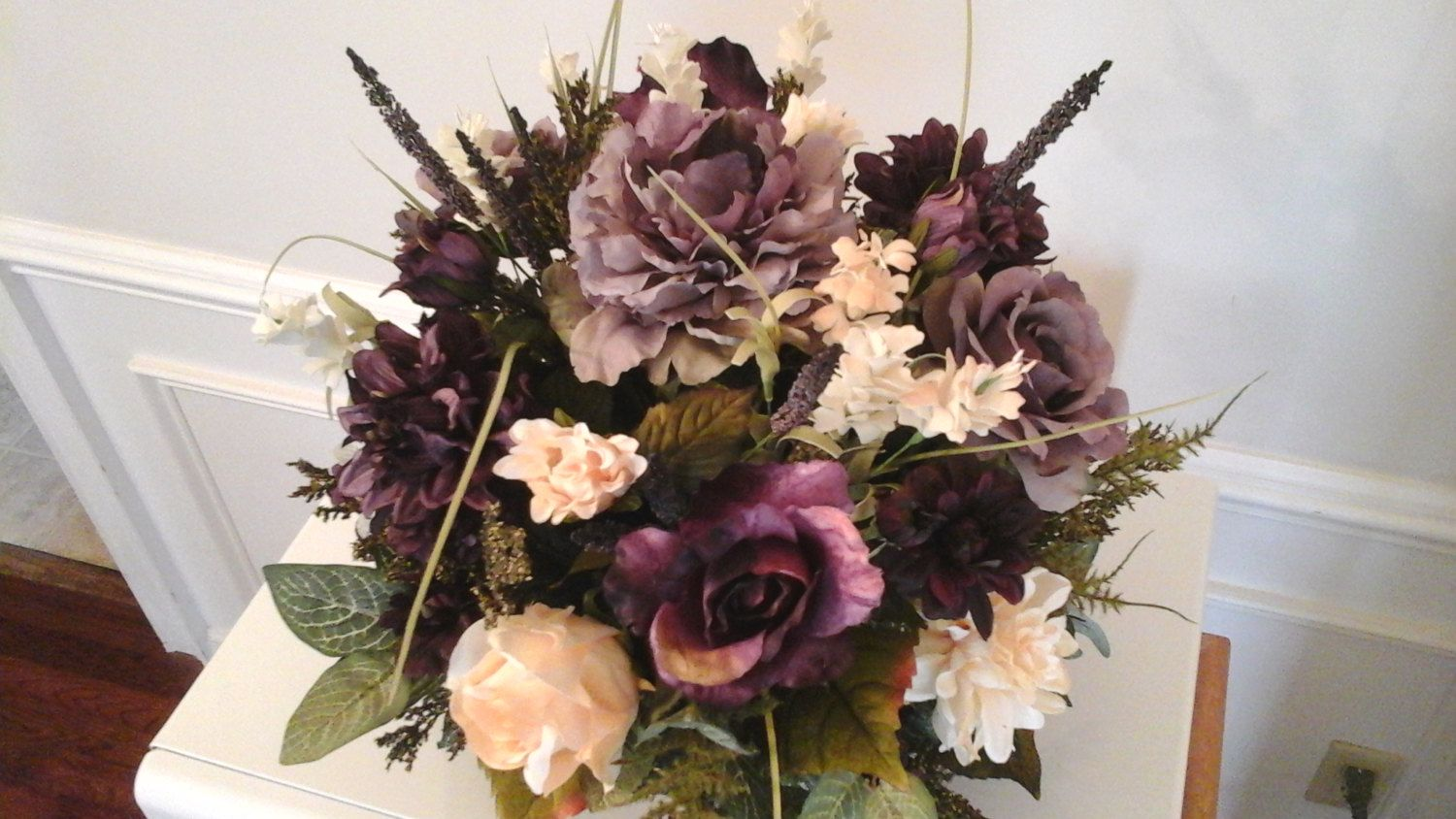 Elegant Floral Arrangement, Floral Centerpiece,SHIPPING INCLUDED,Large  Modern Silk Floral, Dining