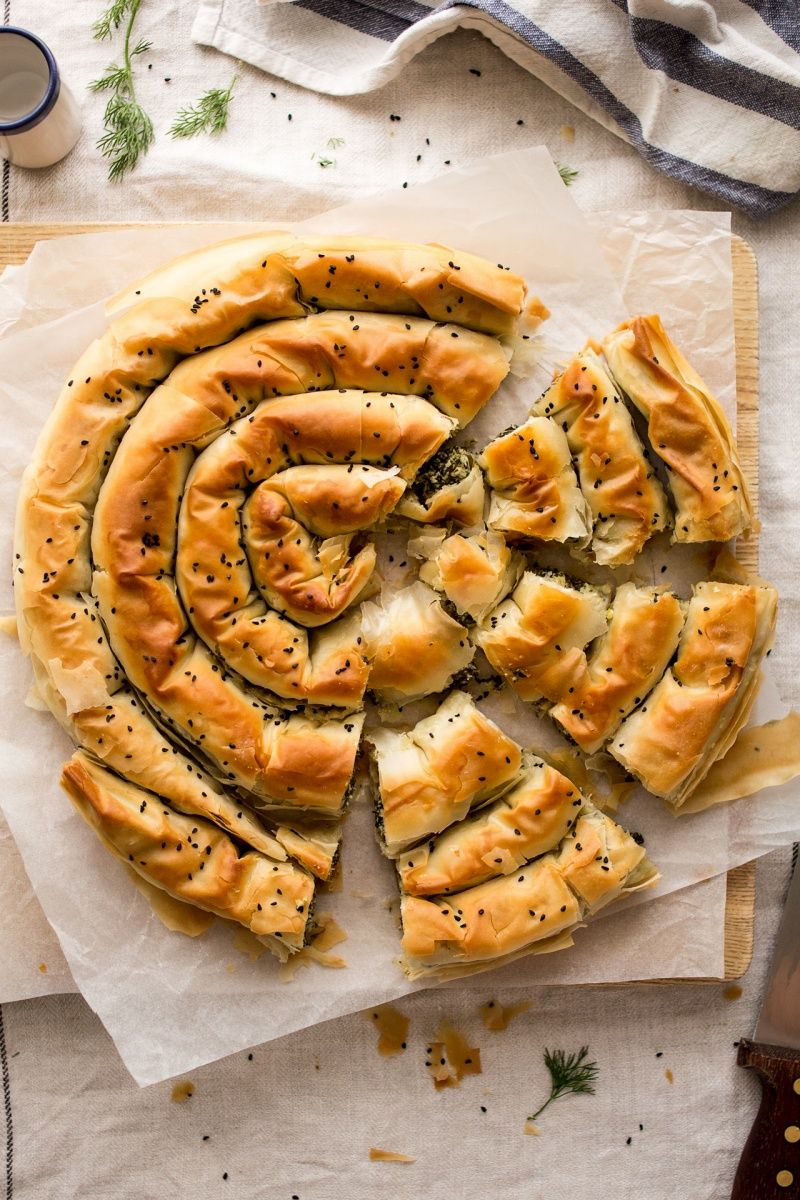 Vegan Spanakopita Greek Spinach Pie