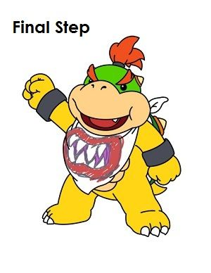 How To Draw Bowser Jr Bowser Drawing For Kids Drawings