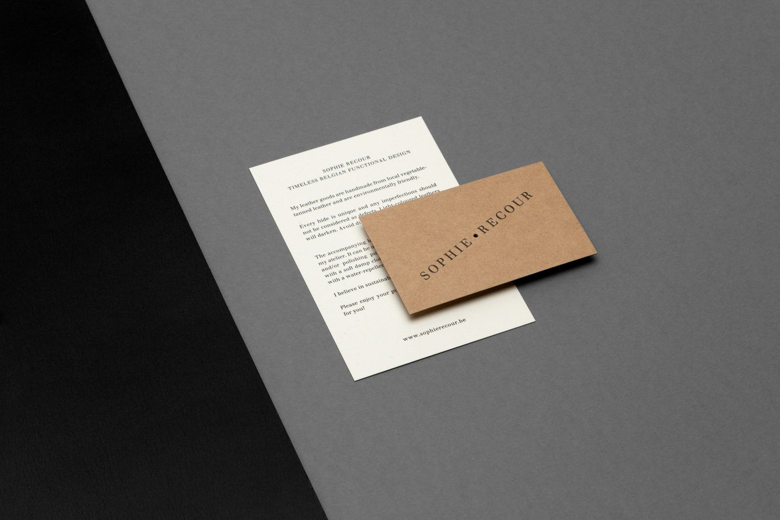 Printed matter for accessories designer Sophie Recour designed by Dogma