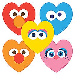 50 Sesame Street: Hearts Stickers - from SmileMakers