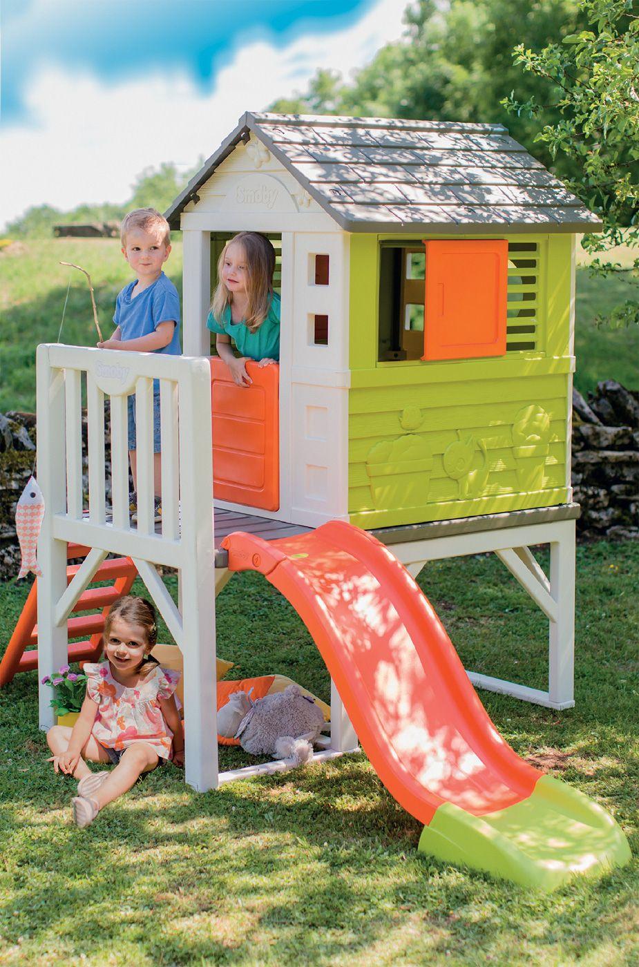 f19c7526857fd Detský domček na pilieroch #Smoby Pilings House je nádherný záhradný domček  pre všetky deti od 2 rokov. Domček pre deti je vyhotovený v žiarivých  farbách, ...