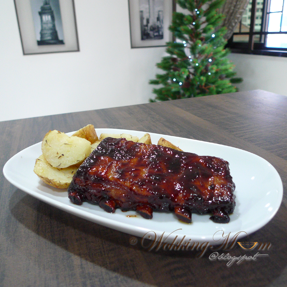 Let S Get Wokking Oven Roasted Maltose Ribs烘烤麦芽糖排骨 Singapore Food Blog On Easy Recipes Food Easy Meals Pork Ribs