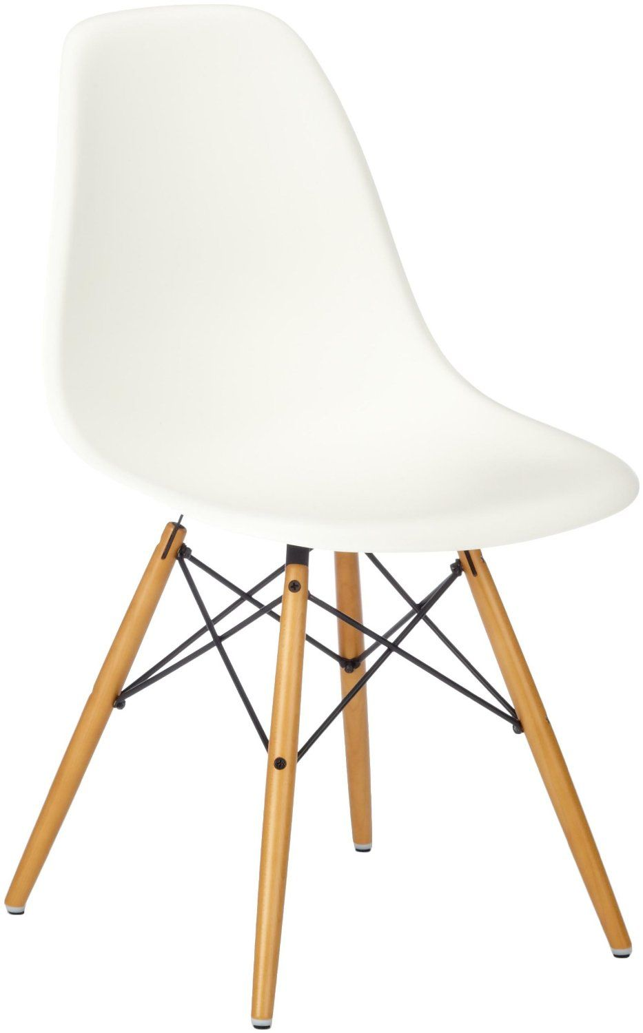 Designer Stuhl Eames vitra eames plastic side chair dsw base maple yellowish white seat