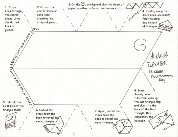 Hexagon-Flexagon: Post #3, Instructions | Pinterest | Template ...