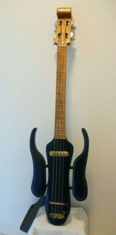 Hand Carved Electric Bass Guitar in Dark Blue with by TTguitars, $595.00