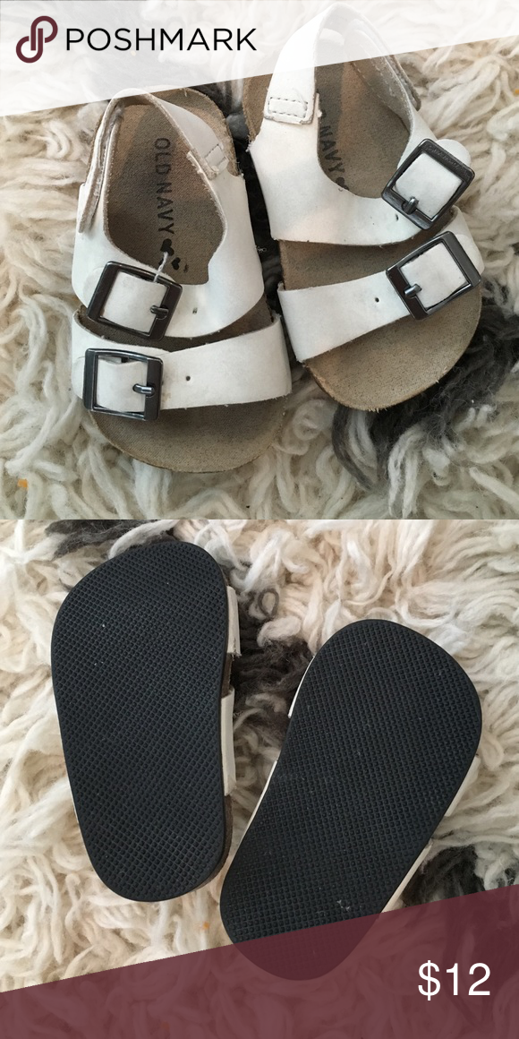 Old Navy Baby Sandals Birkenstock In Excellent Used Condition Baby 0 3 Month My Daughter Wore Them Until 5 Months Old Nav Baby Sandals Navy Baby Navy Shoes