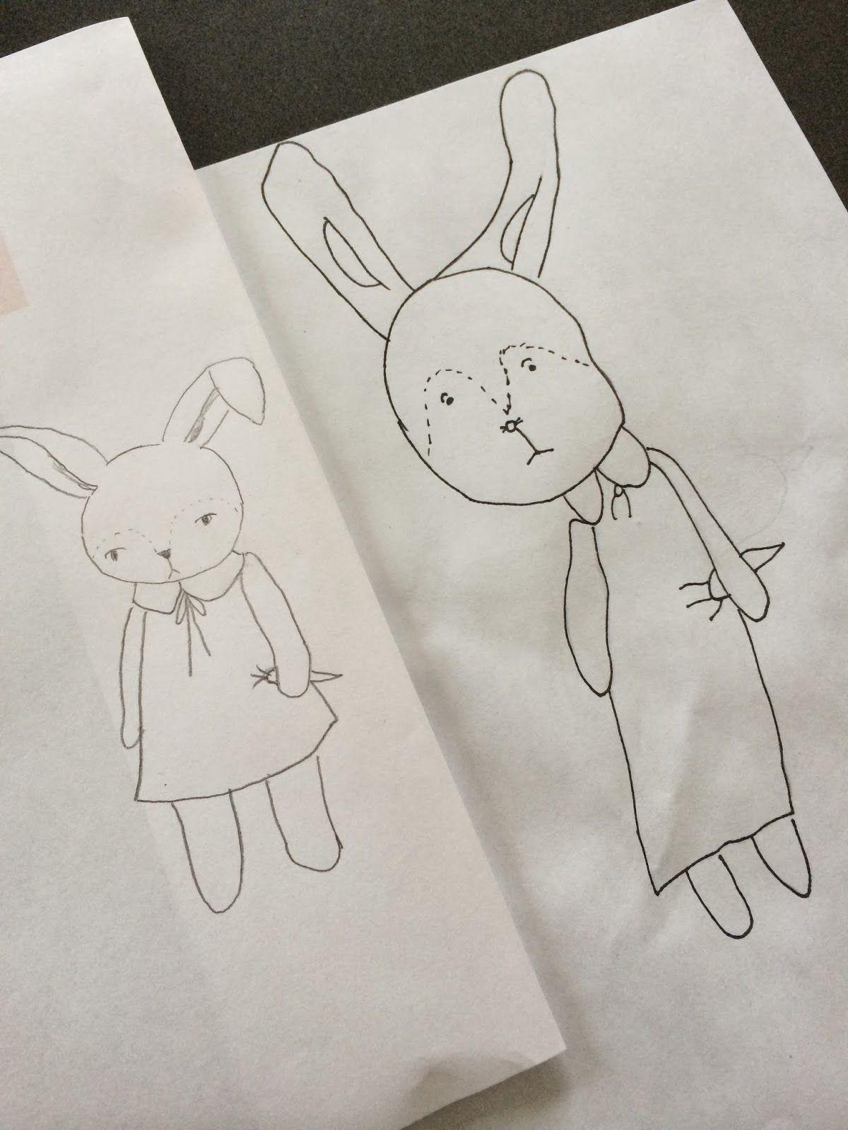 Cute bunny drawing | Maja.: Anja\'s Bunny Party | Drawing and Art ...