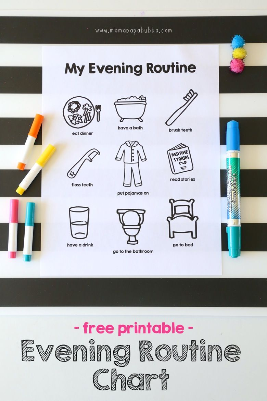 printable evening routine chart | mama.papa.bubba. … | pinteres…