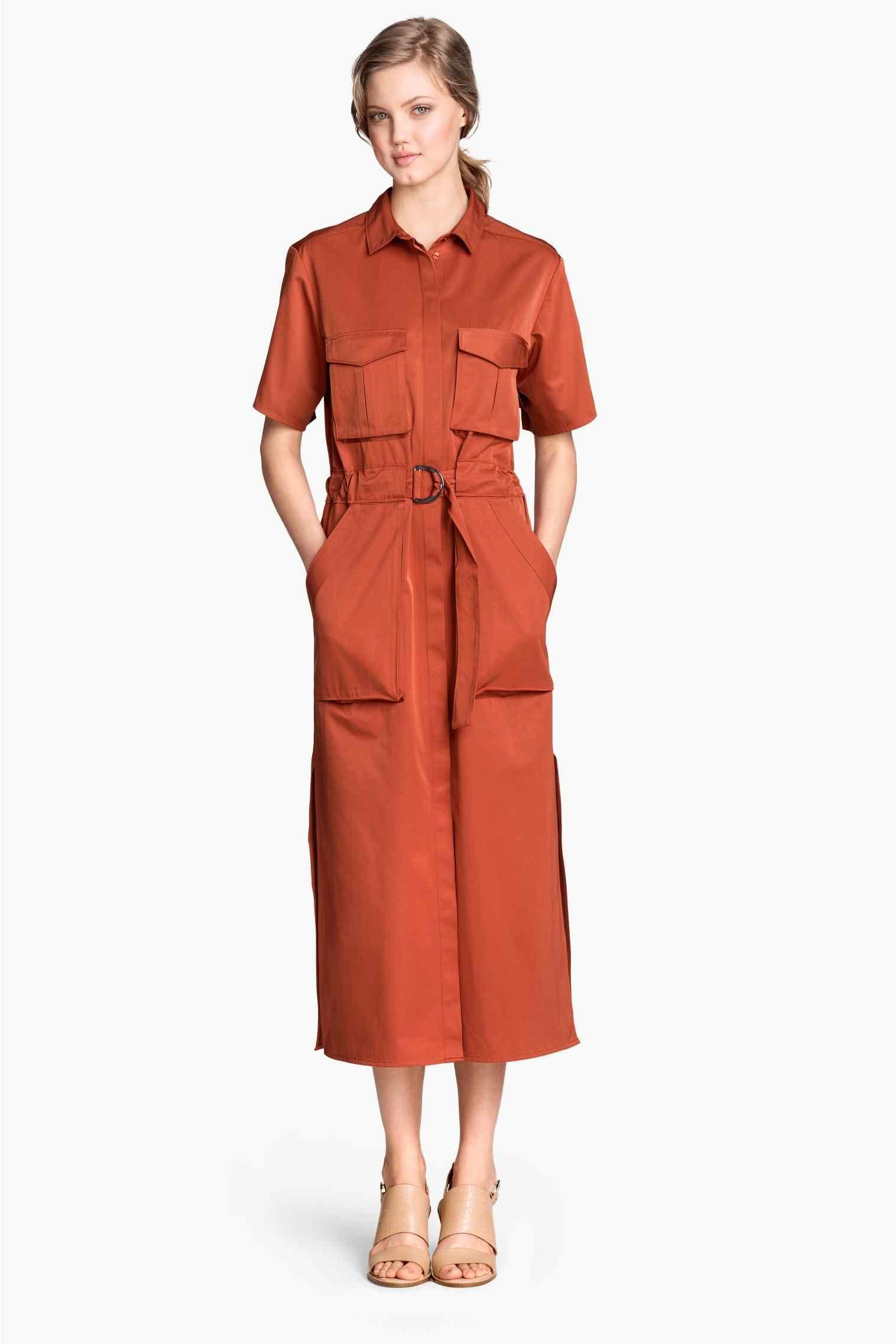 robe chemise longue h m robe saharienne en 2019 robe. Black Bedroom Furniture Sets. Home Design Ideas