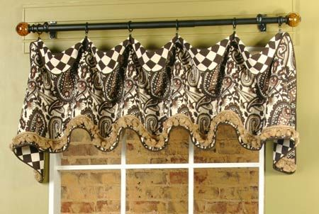 Cuff Top Valance Installed On Rod Valance Patterns Curtains