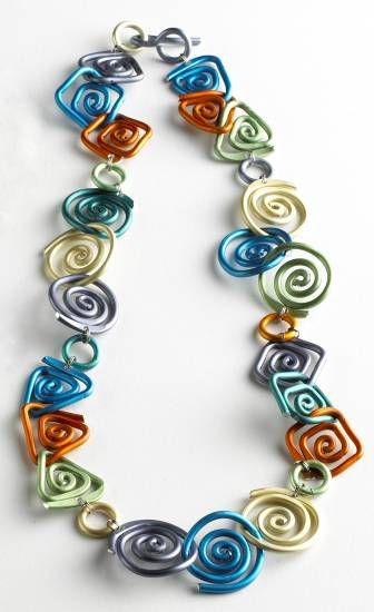 Geometric Swirl Necklace, Necklaces, Jewelry - The Museum Shop of The Art Institute of Chicago