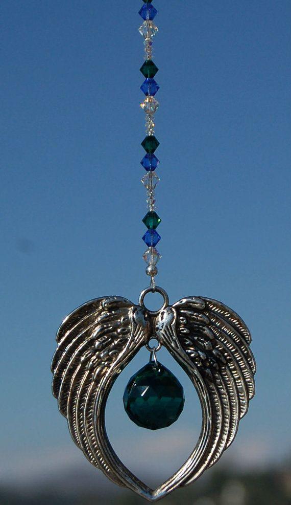 ARCHANGEL GABRIEL CAR CHARM Suncatcher Rearview Mirror Dangler Guardian Angel