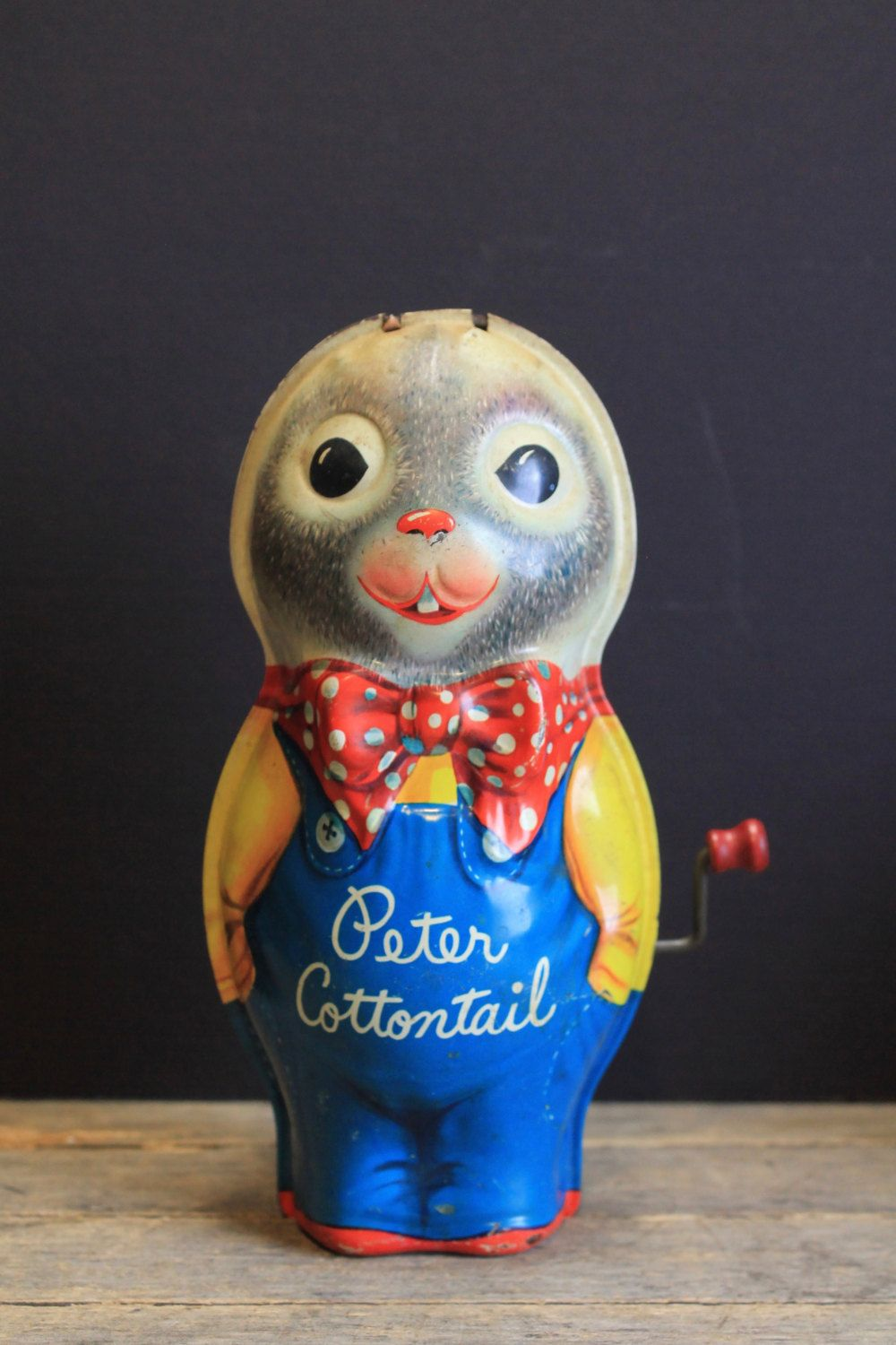 Charming Vintage Tin Lithographed Mattel Peter Cottontail