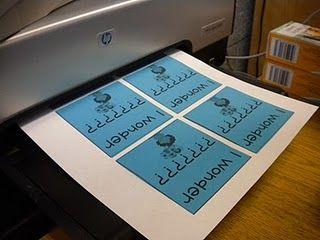 printing on post-its