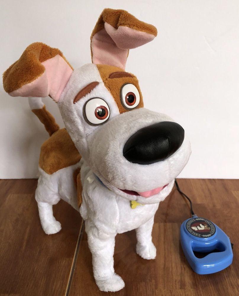 Max Walking Talking Dog The Secret Life Of Pets Plush Toy Best Friend Kids 14 Ebay Secret Life Of Pets Talking Dog Plush Toy
