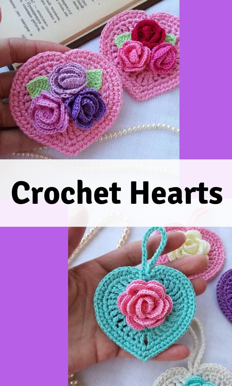 Crochet pattern/Crochet heart/Crochet tutorial #crochet #diy ...