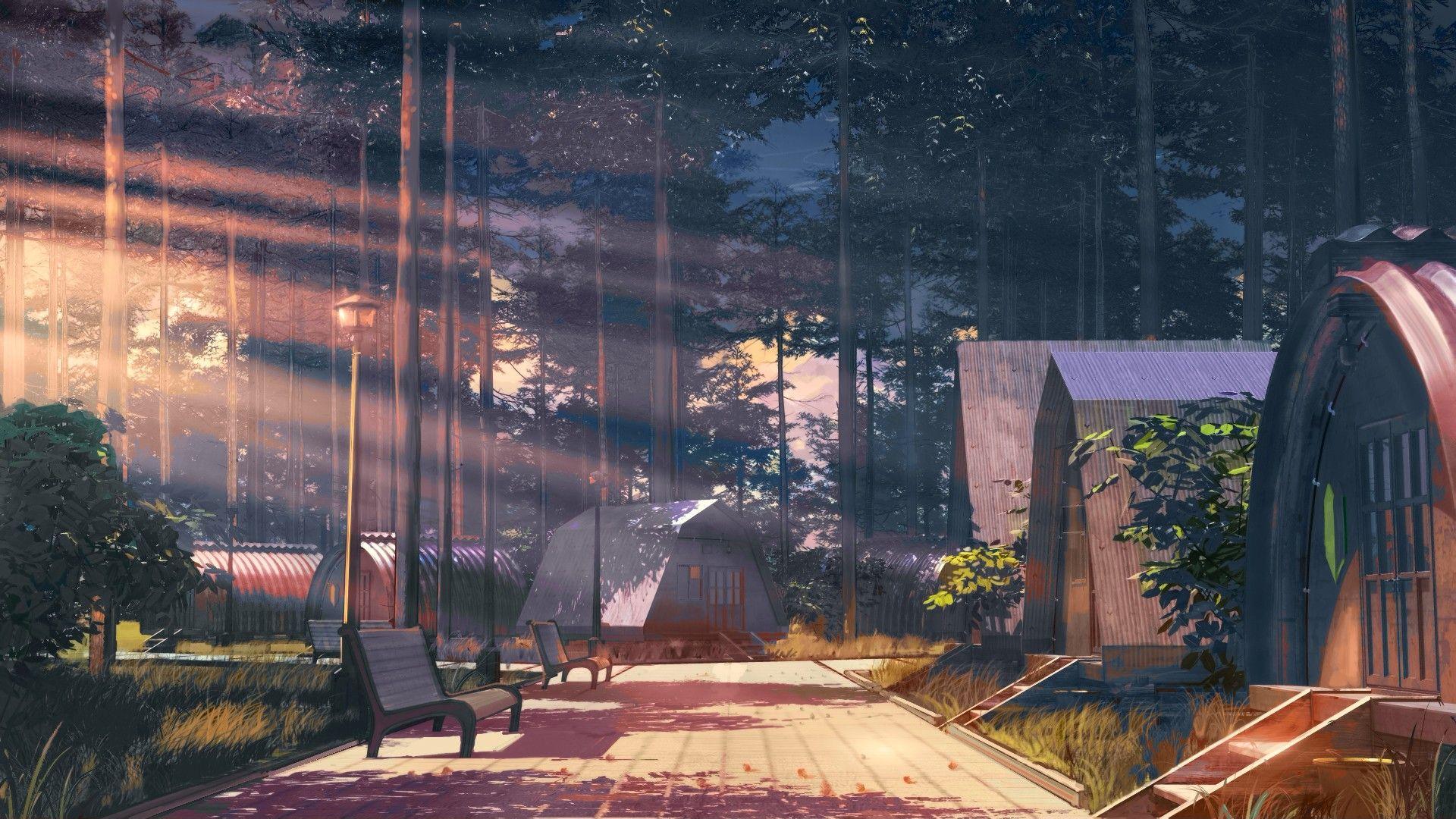 ArseniXC, Everlasting Summer, sunlight, forest