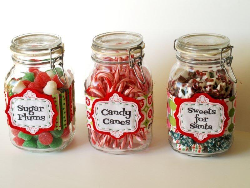 Quick Christmas Ideas Christmas Candy Jars Mason Jar Christmas Gifts Candy Jar Labels