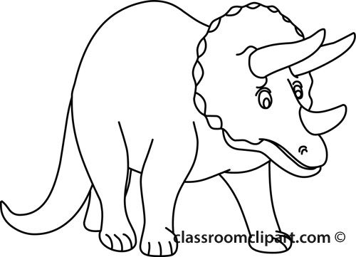 Dinosaurs Triceratops Outline Classroom Clipart Dinosaur Outline Dinosaur Clip Art Dinosaur Pictures