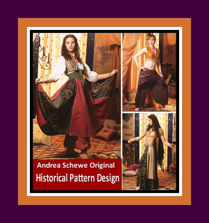 HISTORICAL TRIBAL DANCE Costumes-Designer Sewing Pattern-Three ...