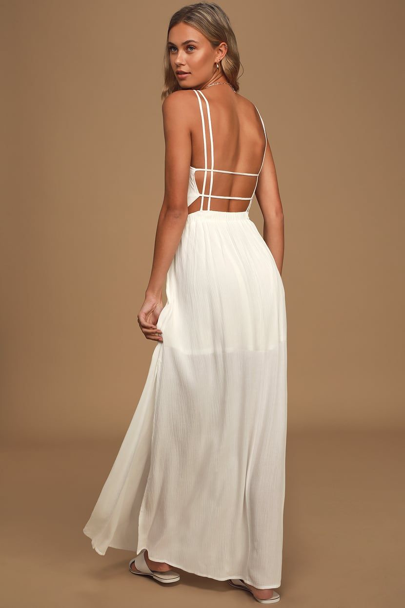 Lost In Paradise White Maxi Dress In 2021 White Maxi Dresses Maxi Dress Dresses [ 1245 x 830 Pixel ]