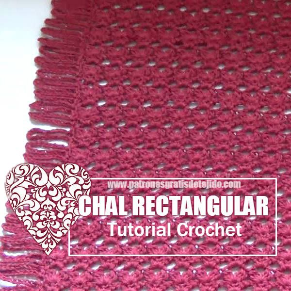 Cómo tejer chal rectangular a crochet tutorial en video | Ganchillo ...
