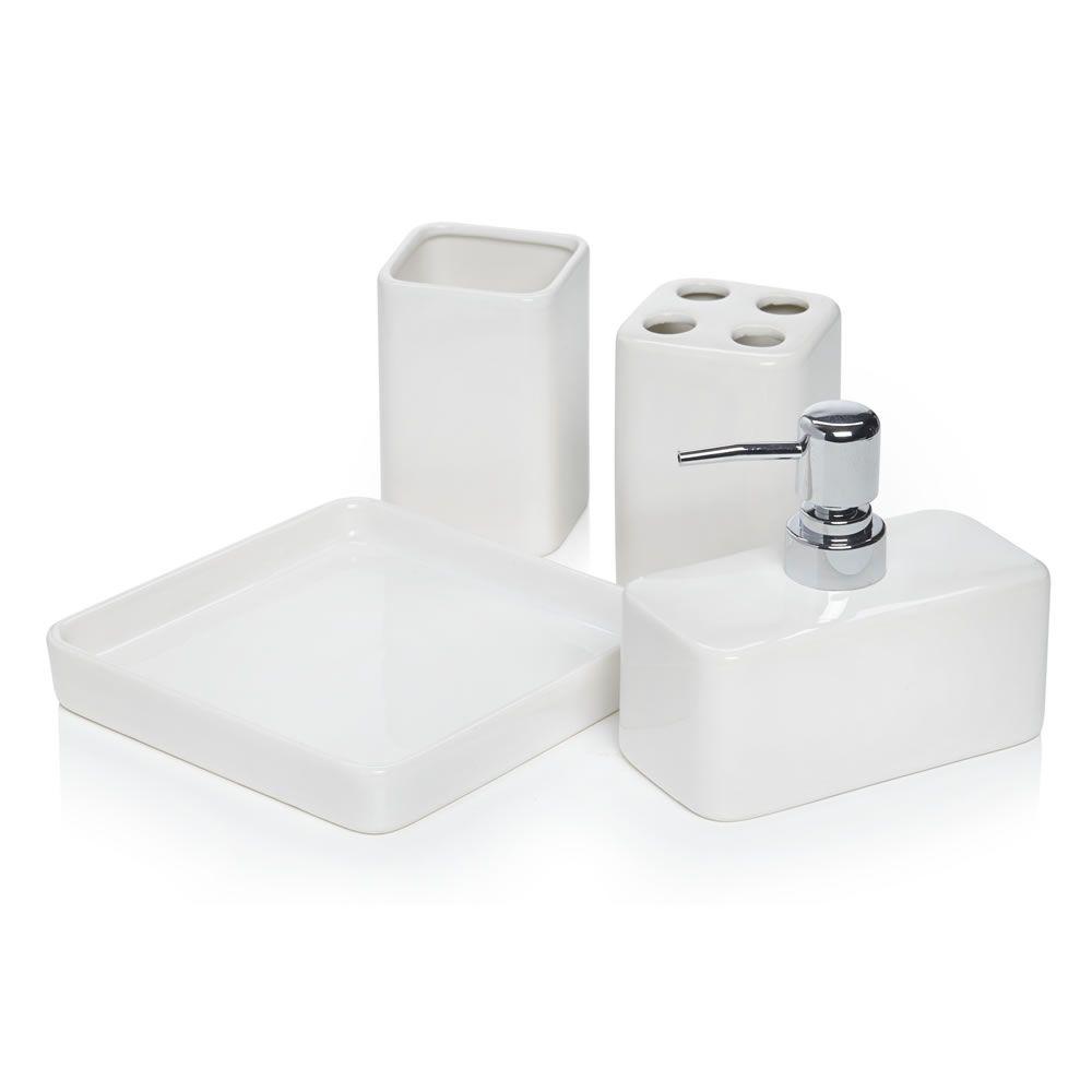 Wilko White Bath Set with Tray Ceramic at wilko.com | Home ...