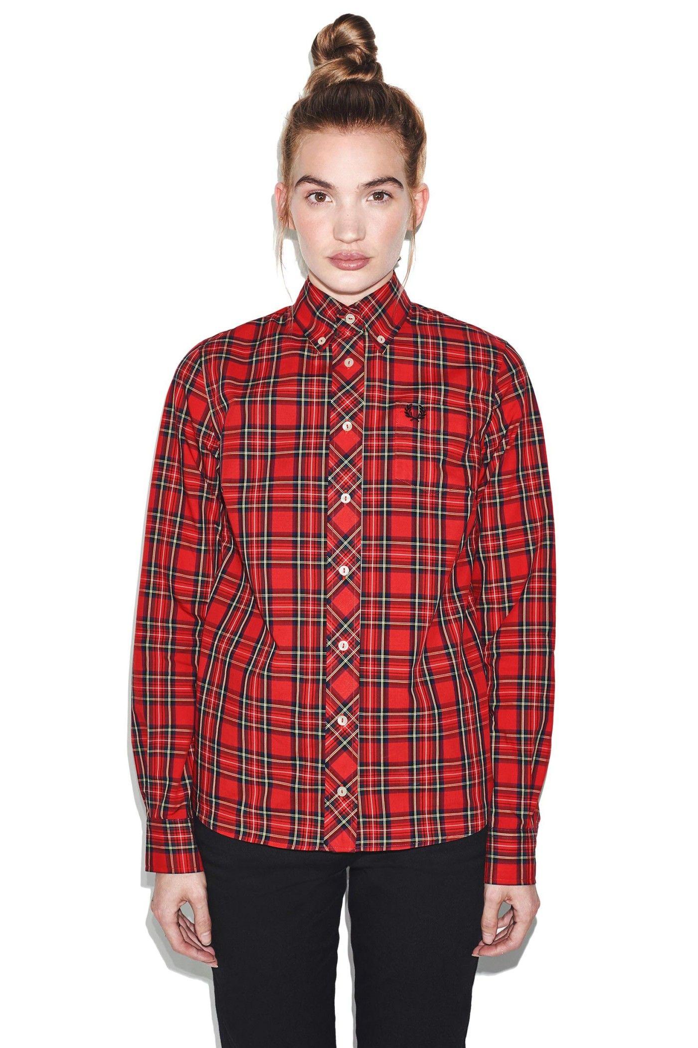 0d0dcd7e Fred Perry - Reissues Tartan Shirt Red   Shirts   Tartan shirt ...