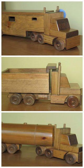 Madeira Empilhadeira Caminhão De Brinquedo jogar e Display bom dar aulas Waldorf Montessori sólido