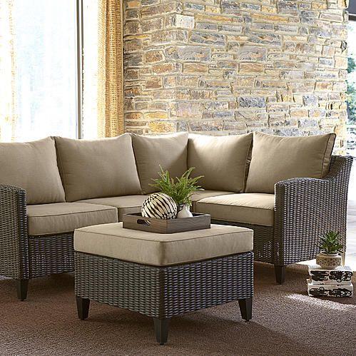 Ty Pennington Style Key Largo 5 Piece Sectional Set Terrace Furniture Outdoor Furniture Sets Outdoor Comfort