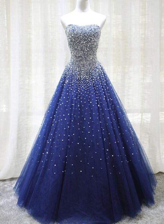 blue formal gowns for juniors