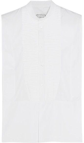 Maison Margiela - Pintucked Cotton-poplin Shirt - White