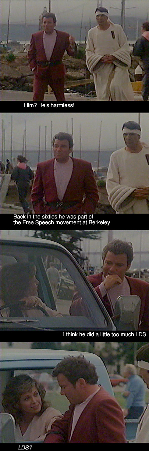 """LDS (Mormon) References in """"Star Trek IV: The Voyage Home"""" (1986)"""