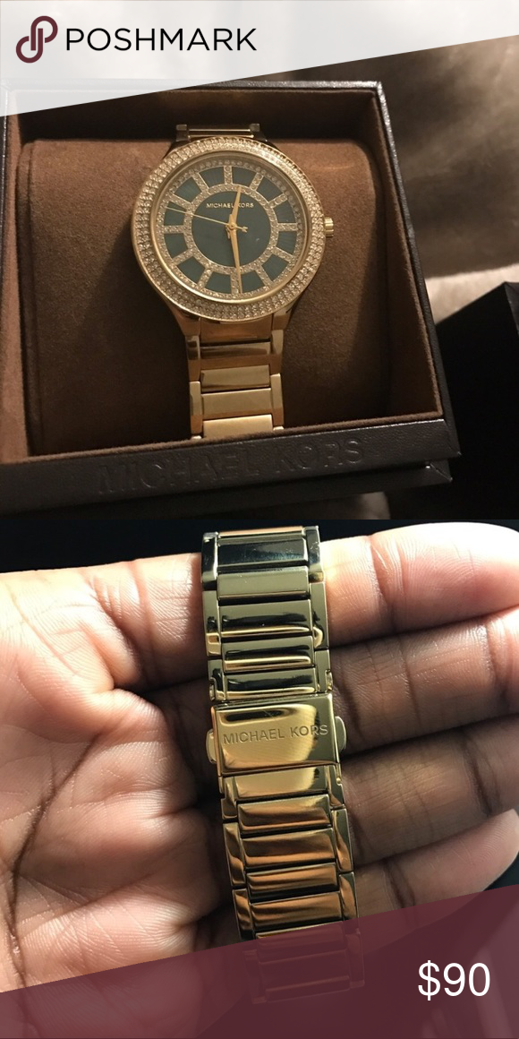 afb0391628c5 Michael Kors Watch This is for a MK watch! It has an emerald green face  with rhinestones on the face and around the rim. BEAUTIFUL watch! I just  have too ...