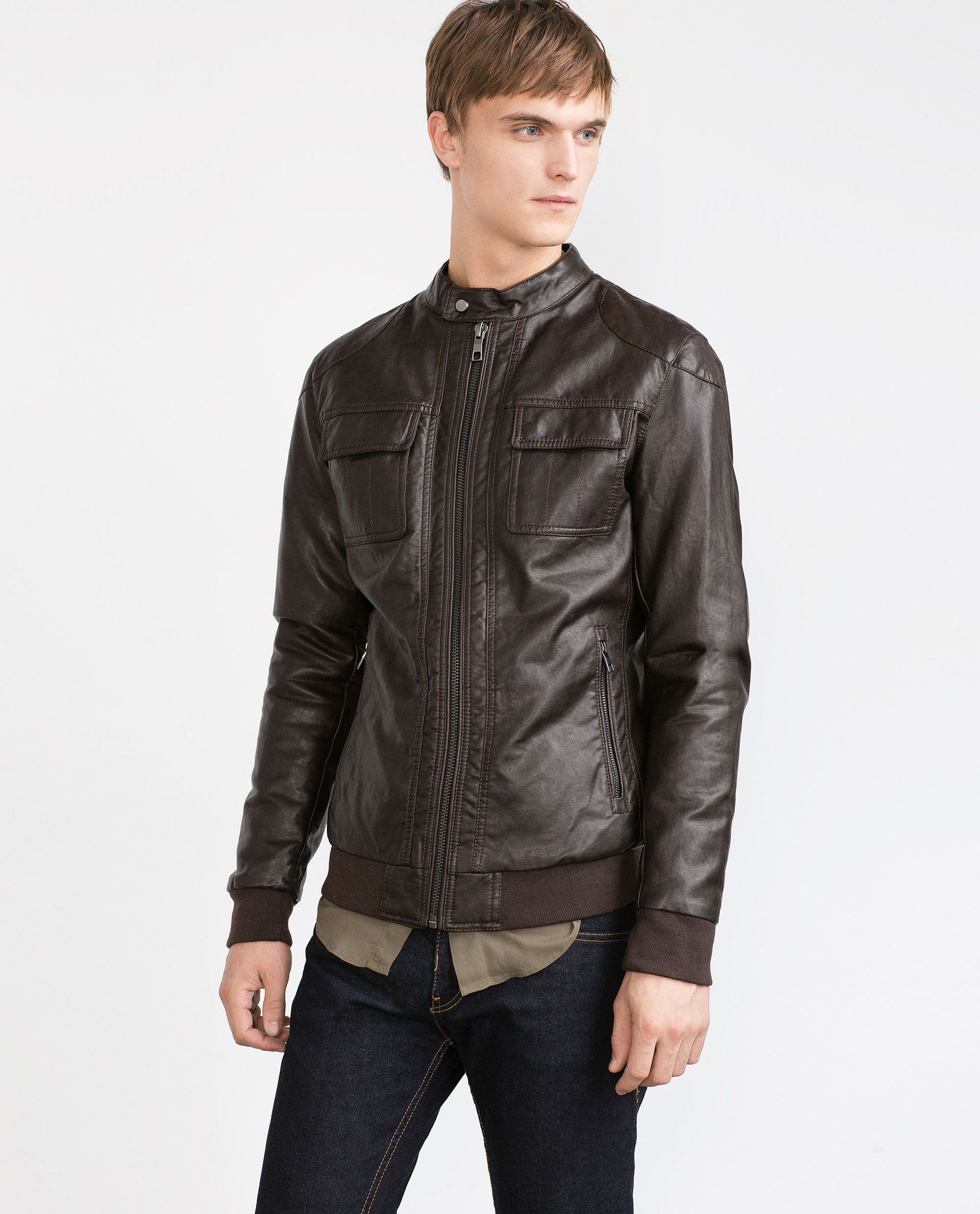 FAUX LEATHER JACKET View all Jackets MAN ZARA