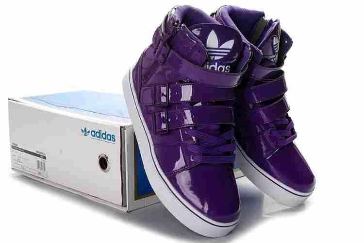 Adidas Hightops, especially in purple