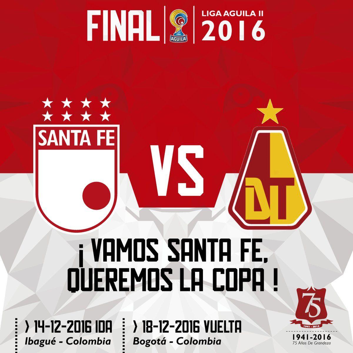 RT @SantaFe: 5 años, 11 finales ¡#VamosLeón,180 minutos de fútbol, sangre y corazón por una copa más! #SomosSantaFeDeBogotá https://t.co/ndQhntJzzg