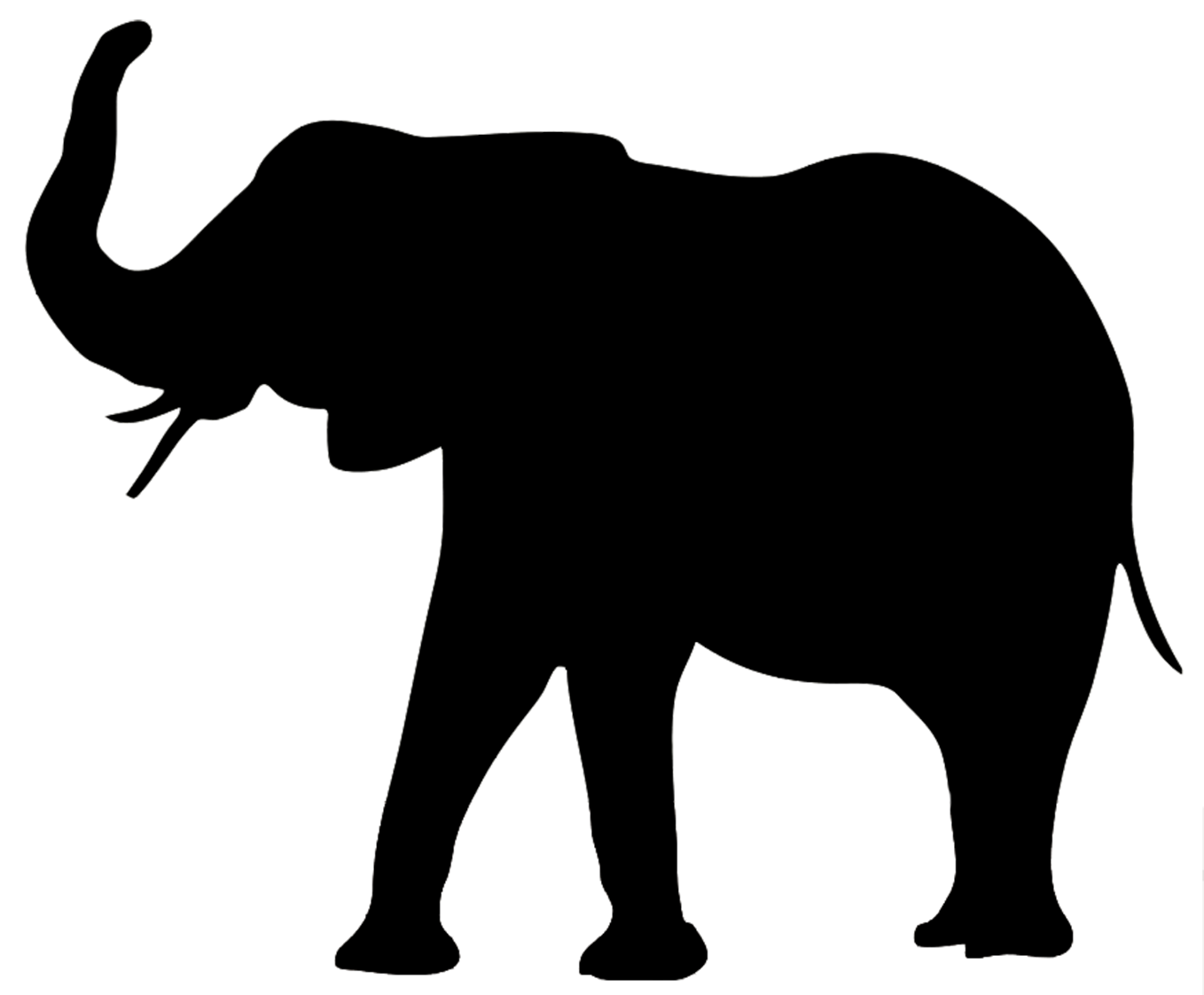 Animal Silhouette, Silhouette Clip Art Elephant