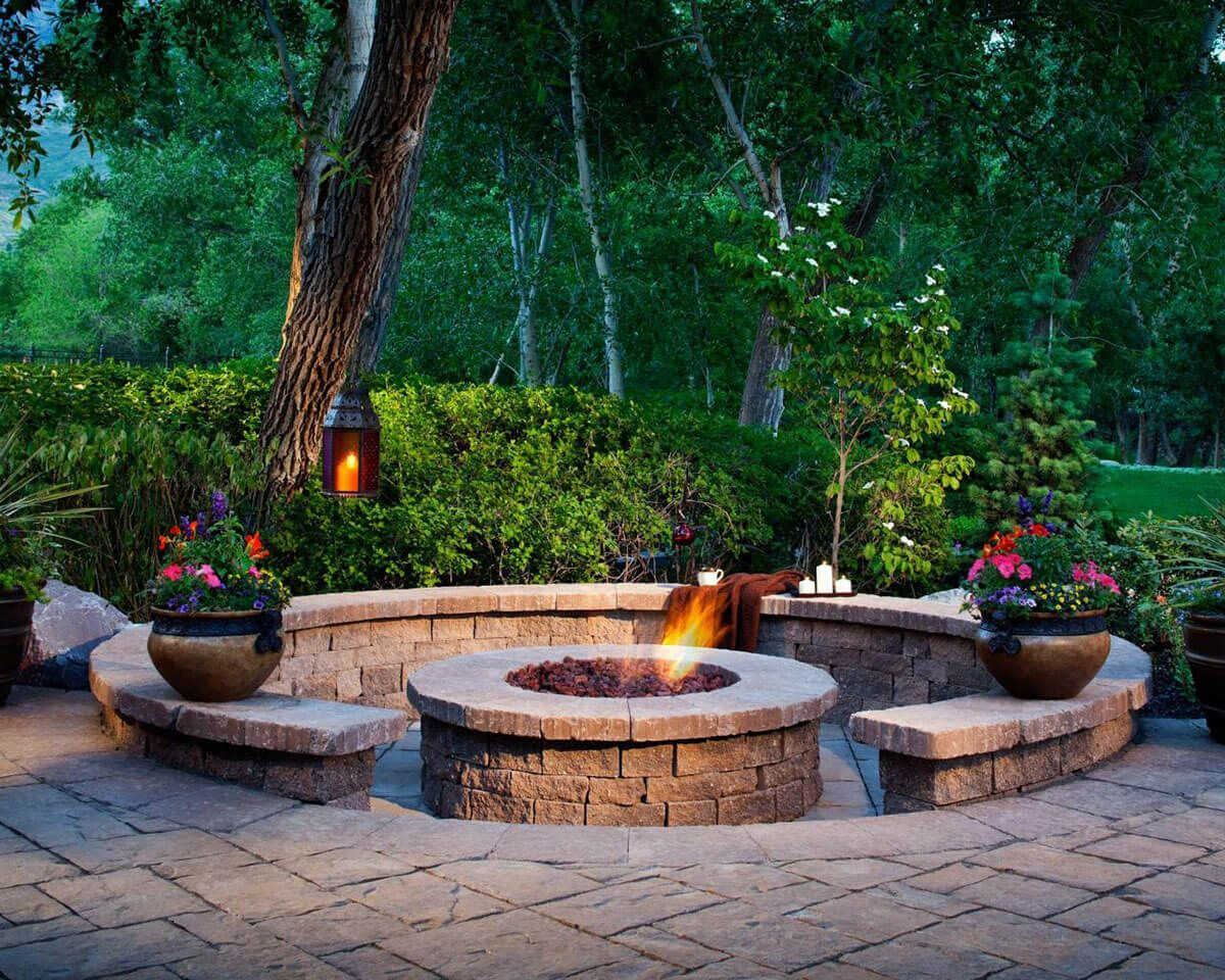 round firepit area ideas to enjoy summer nights outside
