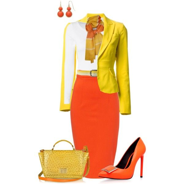 """""""Candy corn Colors"""" Entry by penny-martin on Polyvore. First Place Winner!"""