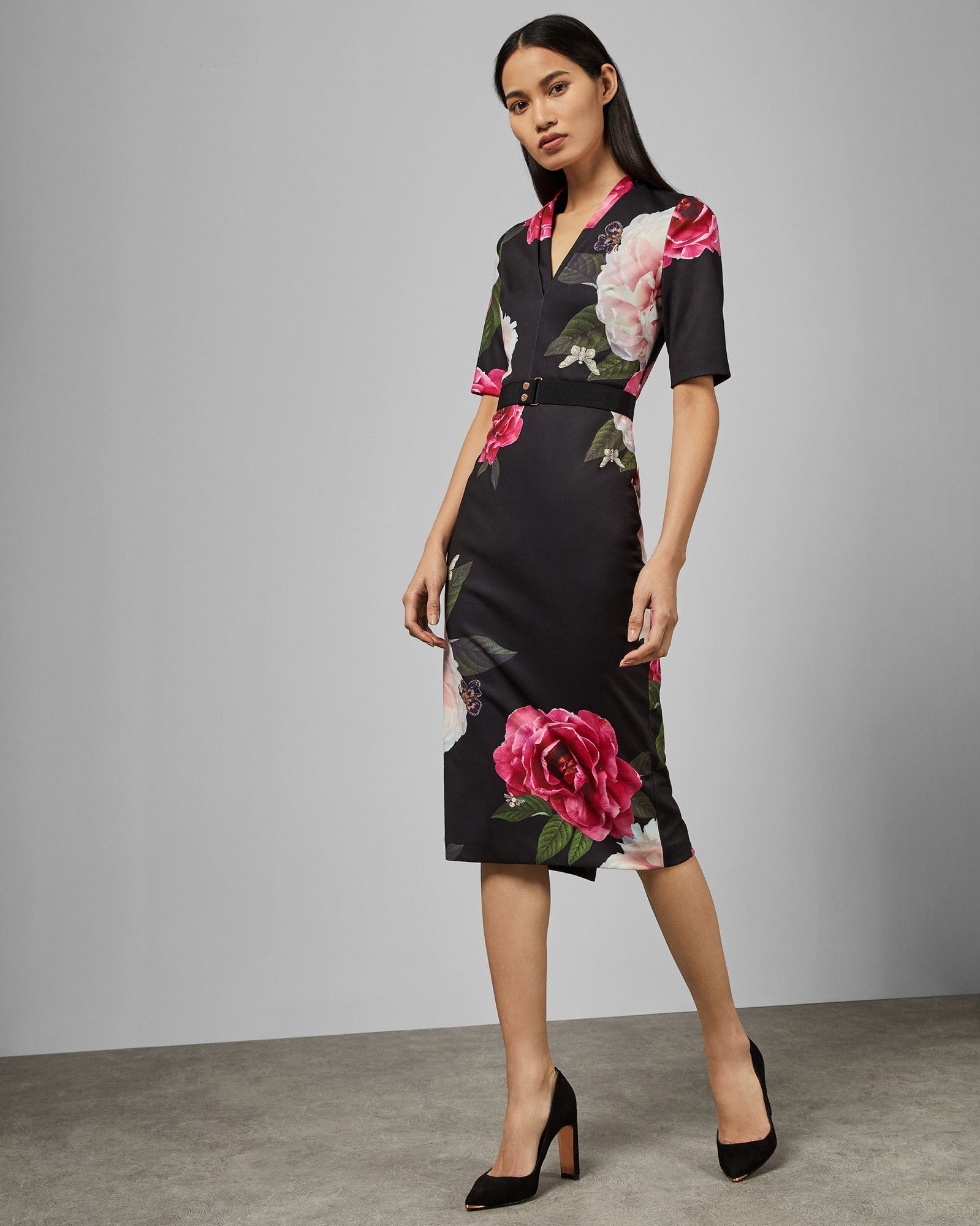 ad110cb83c Ted Baker GILANNO Magnificent V neck bodycon dress in 2019 | 2019 ...