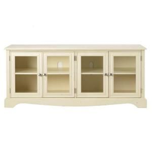 Home Decorators Collection, Sheffield 60 in. W Antique White 4-Door TV Stand, 0820700460 at The Home Depot - Mobile