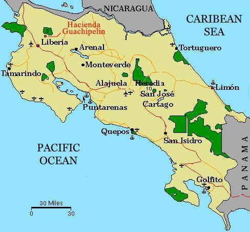 Hotel Guanacaste Costa Rica Map The Hacienda Guachipelin Inn