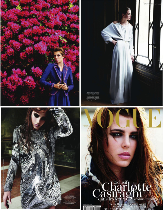 Charlotte Casiraghi by Mario Testino for Vogue