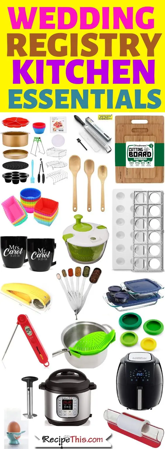 The Ultimate Kitchen Wedding Registry Guide Wedding