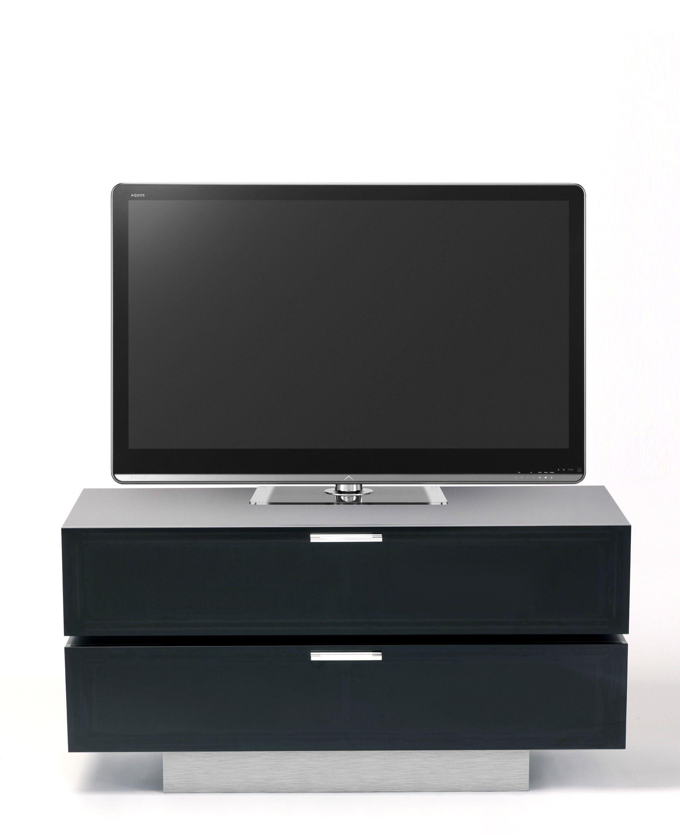 Stil Stand Black Gloss TV with Alu Plinth STUK4001